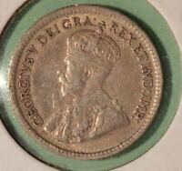 1916 Canada Silver 5 Cents - INV#S-263