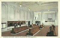 Pawtucket Central Falls Station Interior View Railroad Train Depot 1922 Postcard