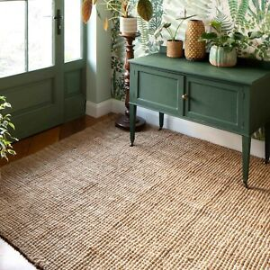 Boucle Jute Natural Jute Rug for Living Room Large Small Sizes High Quality Mat