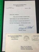 Hugo L Black Supreme Court Justice School Prayer Case Autographed Signed Letter