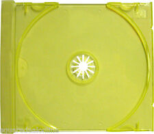(400) CDIS80TL Transparent Yellow Green CD Trays Inserts Replacements Plastic