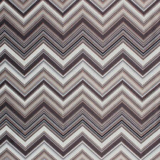 Chevron Zig Zag Brown Geometric Modern Embroidered Fabric Drapery Upholstery IL9