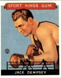JACK DEMPSEY 1933 Goudey Sport Kings Gum Boxing Card #17 Reprints