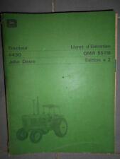 John Deere tracteur 4430 : livret d'entretien E2