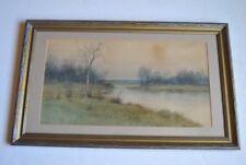Original watercolor painting by George Howell Gay of winter scene