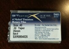Dentsply GT Series X Nickel Titanium Rotary Files (qty.4) Size 40 .08 Taper 25mm