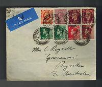 1937 Cheeterham England COver to Reyvella Australia