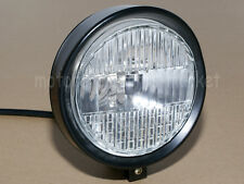"5.7"" Retro Black Head Light 55W H4 Headlight For Harley Chopper Bobber Cruisers"
