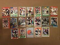 Cleveland Browns Cards (19 Card Lot) Burnett Johnson Matthews Grayson Brown