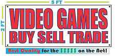 VIDEO GAMES BUY SELL TRADE Banner Sign NEW 2x5