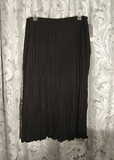 VERY BLACK BOHO SOFT STRETCH KNIT CRINKLE PULL-UP LONG ANKLE SKIRT DRESS~2X~NEW