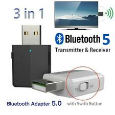 USB Wireless Bluetooth 5.0 Audio Stereo 3.5mm Music Receiver Transmitter AUX Car