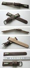 -Edelweißuhrband Braun 18mm zum Beispiel für Michel Jordi und andere Trachtenuhr