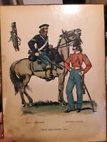 older military heritage laminated plaque: First Dragoons - 1851; 2 soldiers, gun