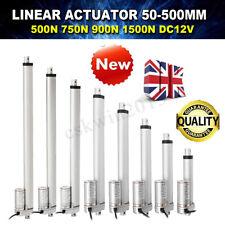 Linear Actuator 12V Electric Motor 500~1500N 50~300mm Solar Tracker Door Open UK