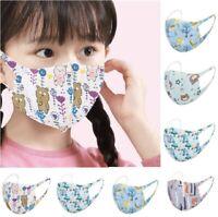 Masque Tissus de Protection Enfant Lavable Réutilisable Laisse Respirer Lot De 5