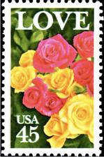 Love Roses Usa United States 45 Cent Mint Stamp Mnh Scott #2379