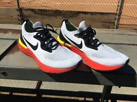 """NIKE Epic React Flyknit GS Red Black Yellow """"Bright Crimson"""" Size 13"""