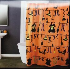 Saturday Knight Halloween Witches Clothes Line Shower Curtain 70x72 NIP