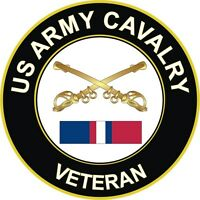 "Army Cavalry Kosovo Veteran 5.5"" Decal / Sticker"