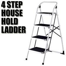 Multi Purpose 4 Step Steps Ladder Domestic Household Office Foldable Steel Frame