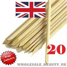 20 x ORANGE WOOD CUTICLE STICKS HOOF PUSHER NAIL TOOL MANICURE PEDICURE NAIL ART