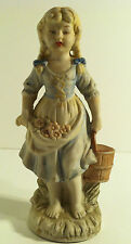 VINTAGE JAPAN HAND PAINTED BARE FOOT GIRL WITH BUCKET FIGURINE STATUE
