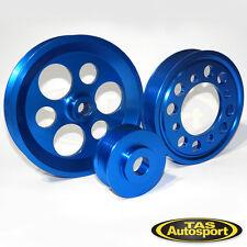 LIGHTWEIGHT PULLEY KIT, Toyota 2JZ 1JZ Supra Chaser Aristo. BLUE Pulleys