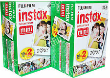 2 x FUJI INSTAX MINI INSTANT PRINT FILM 2 PACK (40 shots) Ist CLASS POST