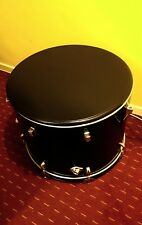 Upcycled & customised bass drum storage table. ((Example only))