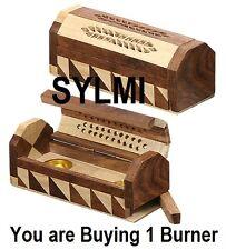 INCENSE BURNER JOINT WOODEN COFFIN BOX STICKS & CONES Holder/Ash Catcher/Storage