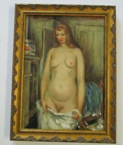 FREDERICK BUCHHOLZ NUDE PORTRAIT ANTIQUE 1920'S NEW YORK IMPRESSIONIST MODERNIST