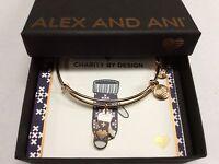 Alex and Ani Mitten Bangle Bracelet Shiny Rose NWTBC