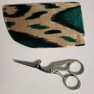 "4½"" Sharp Scissors Crane Stork Bird Figural Shape Tailor Sewing Embroidery Steel"