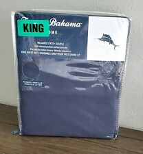 Tommy Bahama Solid Navy Relaxed State Precale King Sheet Set New
