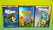 Finding Nemo Bug's Life Monsters, Inc. DVD, 2003, 2-Disc Movie Set Disney Pixar