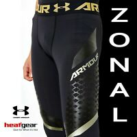"""UNDER ARMOUR MENS HEATGEAR """"ARMOUR ZONAL"""" COMPRESSION LEGGINGS 1289579-001 SMALL"""