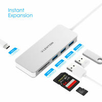 LENTION 6-in-1 USB C to SD Card Reader USB 3.0 Charger Adapter for MacBook Pro