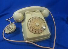 Telefono vintage a disco marca SIEMENS colore avorio