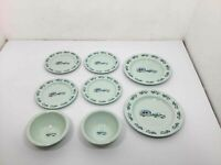 8 Vintage Marble Canyon Enamelware Bowl Plate Lot Camping