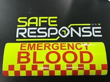 Large 1200mm 4x4 Response Fluorescent Magnetic Warning Sign