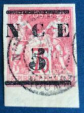 Nouvelle Calédonien N°7 5/75c  Rose Obli Superbe Côté 65€