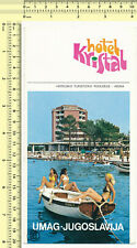 033 Hotel Kristal Umag Yugoslavia Croatia vintage brochure old original prospect