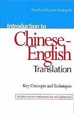 Introduction to Chinese-English Translation