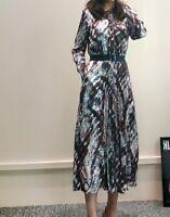 AUTH Ted Baker LILIS Quartz print midi dress, 0-5