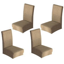 Set 4 Elastic Universal Stretch Dining Room Chair Slipcover Stool Seat Cover
