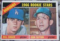 1966 Topps Don Sutton Rookie Rc Signed Autographed Baseball Card Auto JSA AH LOA