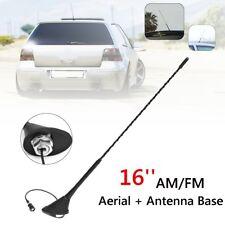 16'' Radio AM/FM Aerial Antenna Roof Mast Whip +Base For BMW VW Passat Golf Audi