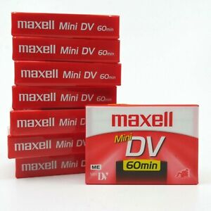 Maxell Mini DV Camcorder Tape Pack of 8 sealed tapes