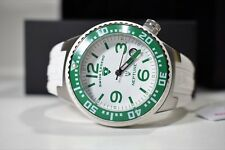 Swiss Legend Neptune Watch White Silicone Green Luminous Indices 11044P-02-GRB